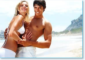 man woman on beach Laser Hair Removal