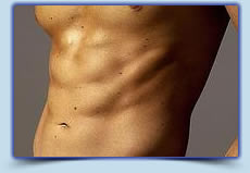 Men's Abs laser hair removal treatment